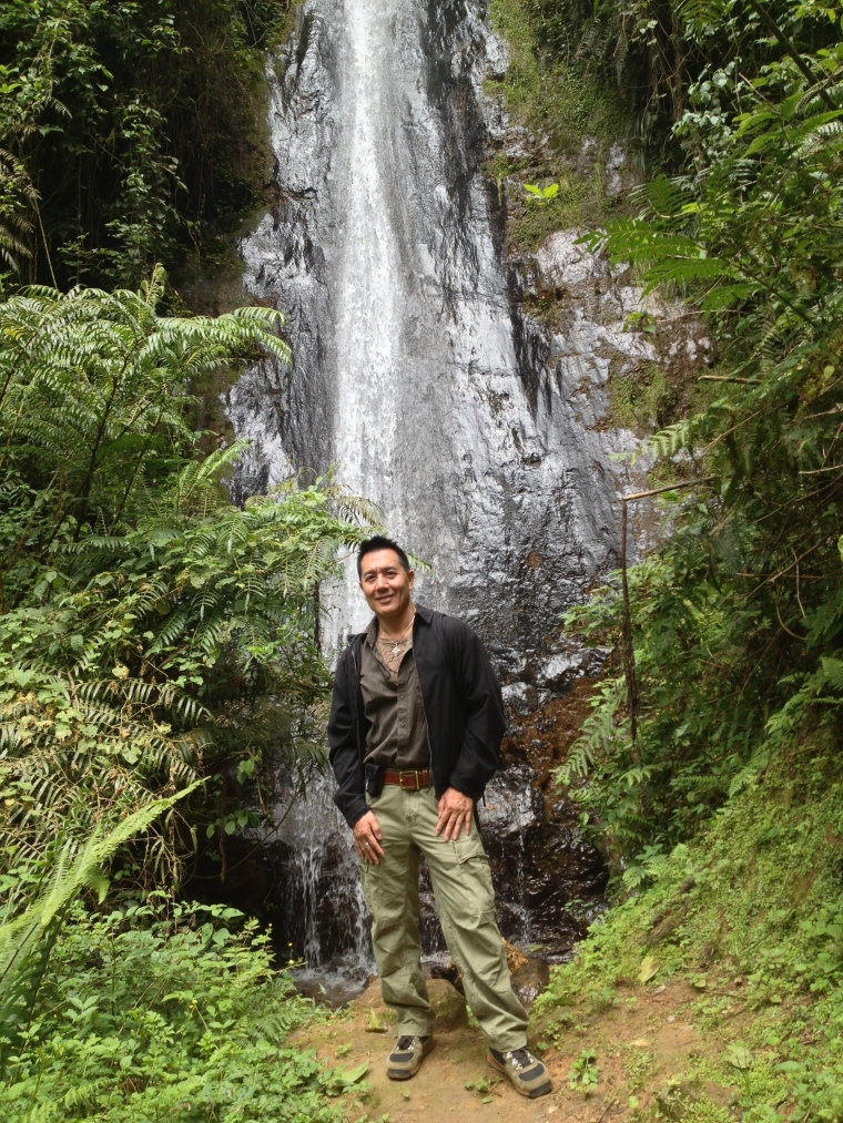 Waterfall at Nyungwe National Park in Rwanda. This tropical rainforest is one of the highlights of my time in this country.