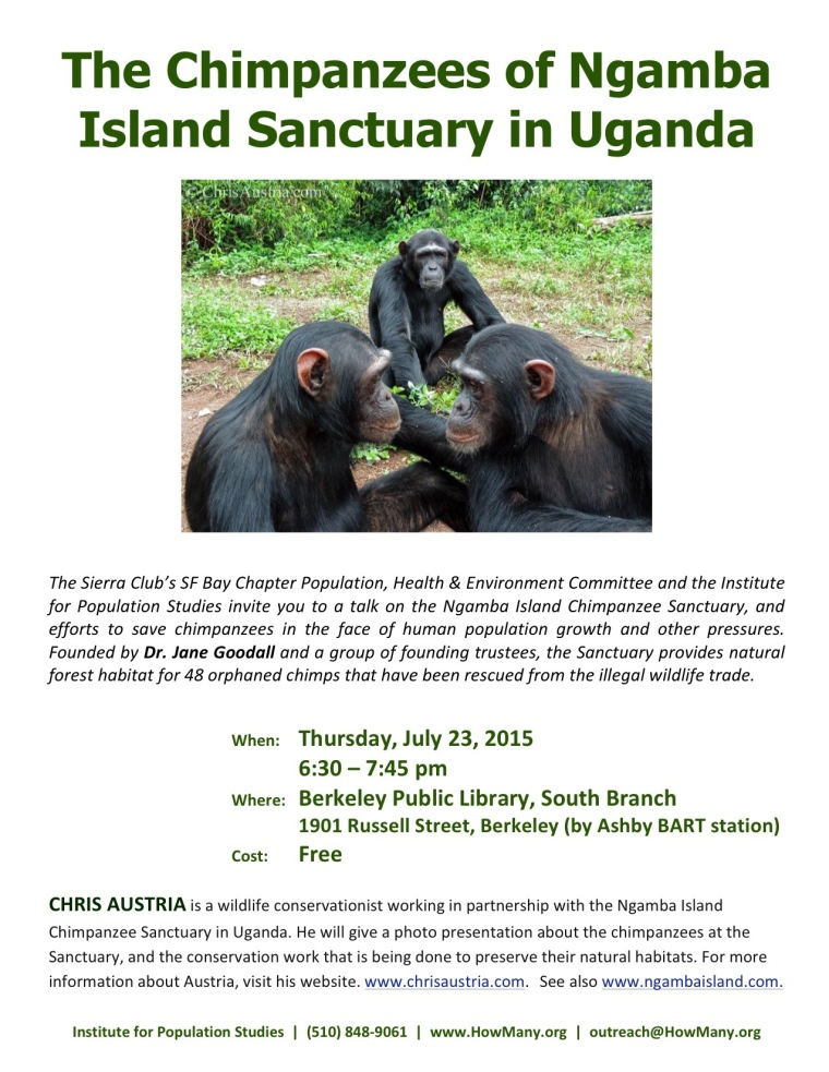 Ngamba Island Chimpanzee Sanctuary presentation for the Sierra Club and The Institute for Population Studies